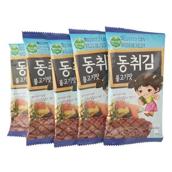 韩美禾童趣海苔烤肉味