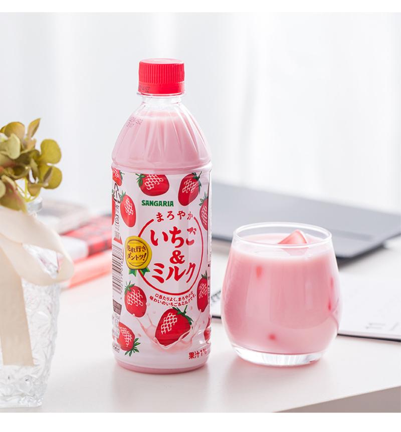 三佳利草莓牛奶味饮料500ml